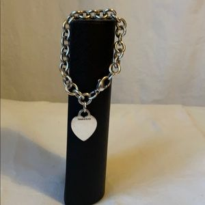 Vintage TIFFANY & CO. Sterling Heart Tag Bracelet